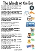 The Wheels on the Bus Nursery Rhyme Worksheets and Activities
