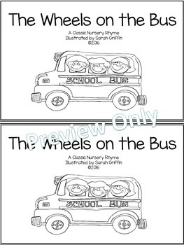 The Wheels on the Bus -  Poetry Packet