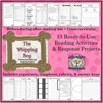 The Whipping Boy: A Creative, Common Core Novel Study