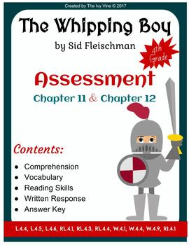 The Whipping Boy - Assessment - Chapters 11 and 12 (Grade 4)