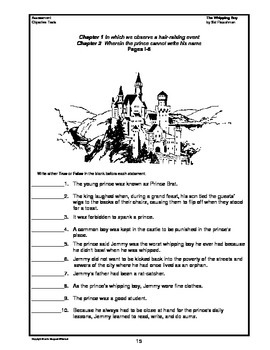 The Whipping Boy Chapter Summaries and Objective Tests