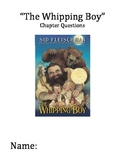 """""""The Whipping Boy"""" Chapter and Comprehension Questions"""