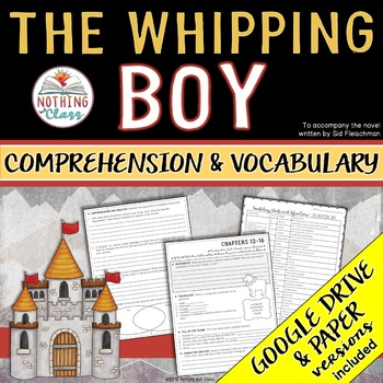 The Whipping Boy: Comprehension & Vocabulary by chapter