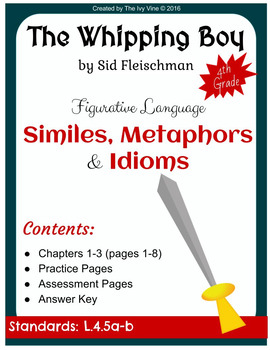 The Whipping Boy - Figurative Language - Chapters 1-3 (Grade 4)