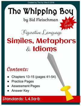 The Whipping Boy - Figurative Language - Chapters 13-15 (Grade 4)
