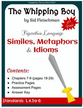 The Whipping Boy - Figurative Language - Chapters 7-9 (Grade 4)