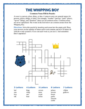 The Whipping Boy: Fill-In Word Puzzle—A Unique Spelling Workout!