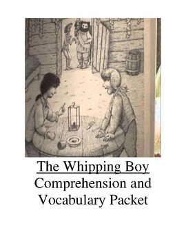 The Whipping Boy Guided Reading Unit Level R