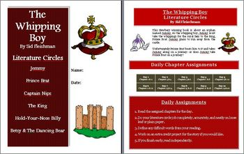 The Whipping Boy Literature Circles Activities