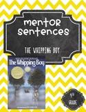The Whipping Boy Mentor Sentences