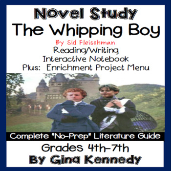 The Whipping Boy Novel Study + Enrichment Project Menu