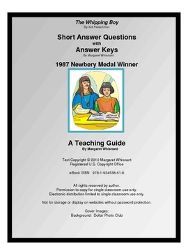 The Whipping Boy Short Answer Questions