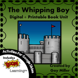 The Whipping Boy Novel Study: vocabulary, comprehension, w