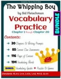 The Whipping Boy - Vocabulary - Chapters 1-20 (Grade 4) BUNDLE