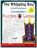 The Whipping Boy - Vocabulary - Puzzles & Games (Grade 4)