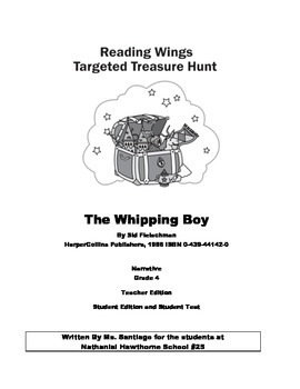 The Whipping Boy by Sid Fleischman 2 Week Unit Success For All