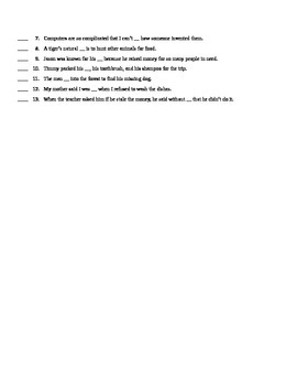 The Whipping Boy test chapters 11-15