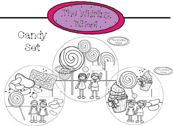 The Whirling Wheel {Candy Set} Addition, Multiplication etc,. Template