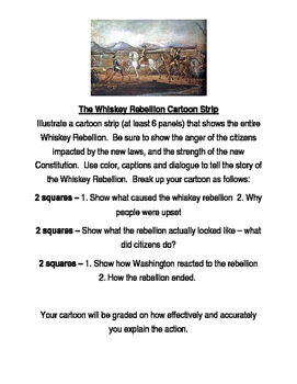 The Whiskey Rebellion - Cartoon Strip