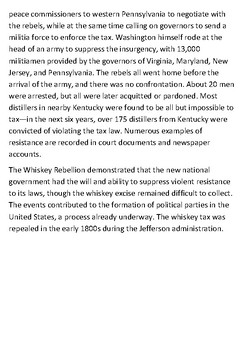The Whiskey Rebellion Handout