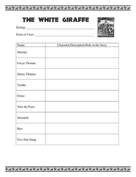 The White Giraffe - Character List
