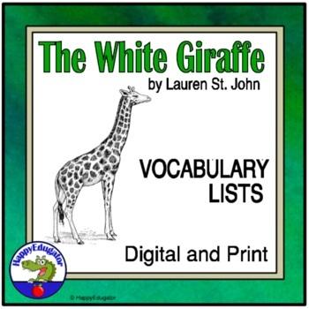 The White Giraffe Vocabulary