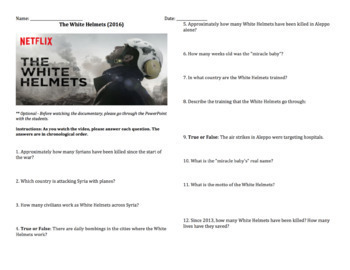 The White Helmets - Video Guide and PowerPoint