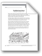 The White House Burns (A newspaper article)