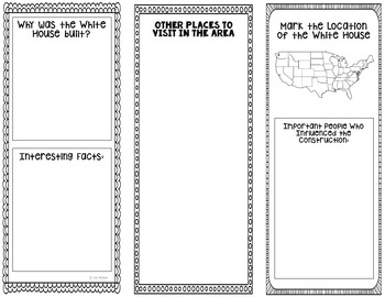 The White House Research Project Brochure Template, Geography, History