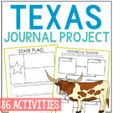 TEXAS History Guided Research Project, Notebook Journal Pages {EDITABLE}