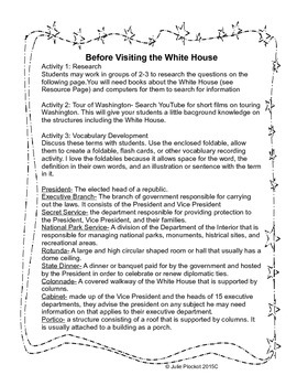 The White House Virtual Field Trip Scavenger Hunt