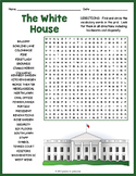 The White House Word Search Worksheet