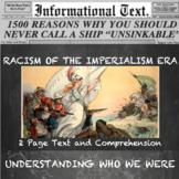 The White Man's Burden--Informational Text Worksheet