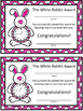 The White Rabbit Award for Telling Time
