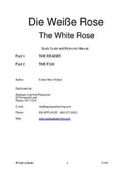 The White Rose-Study Guide & Teacher Resource Manual