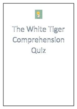 The White Tiger VCE Comprehension Quiz
