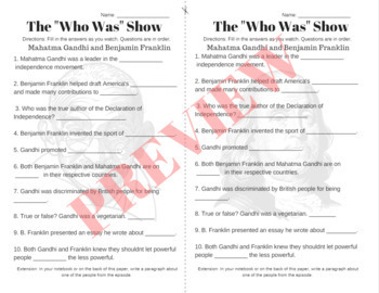"The ""Who Was"" Show Episode Guide-- Netflix-- Episode 1, 2, 3 Fill in The Blanks"