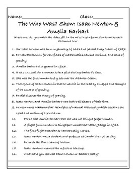 The Who Was? Show: Isaac Newton and Amelia Earhart