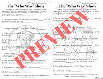 The Who Was Show Video Guide-- Netflix-- Episode 10-13  Fill in The Blanks