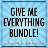 Give Me Everything Bundle! • 50% Off Every Paid Resource F