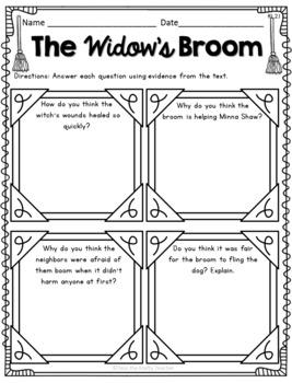 October Reading Comprehension - The Widow's Broom Chris Van Allsburg