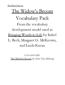 The Widow's Broom Tier 1 and Tier 2 Vocabuary Pack