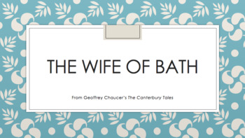 The Wife of Bath Introduction Lesson Plan