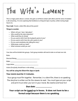 The Wife's Lament Silent Film Project