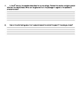 """""""The Wife's Lament"""" Text/Annotation Page and Questions"""