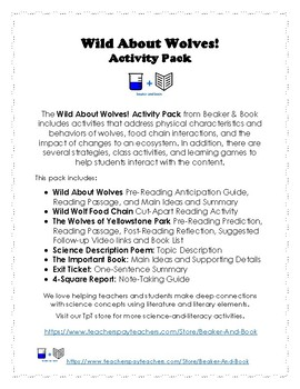 The Wild About Wolves! Activity Pack