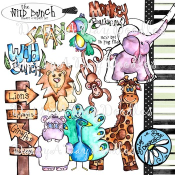 The Wild Bunch - Safari Animal Clip Art