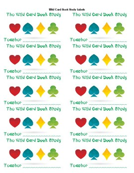 The Wild Card Book Study Folder Labels