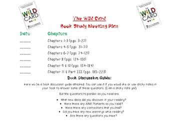 The Wild Card Book Study Reflection Sheet & Meeting Date Sheet
