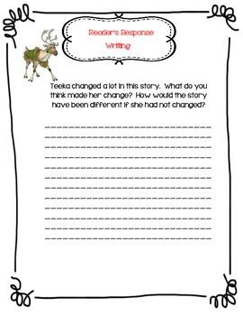 The Wild Christmas Reindeer by Jan Brett- A Complete Book Response Journal
